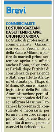Dopo 60anni di attività, generazioni di professionisti, lo Studio Gazzani è pronto a aprire un ufficio a Roma