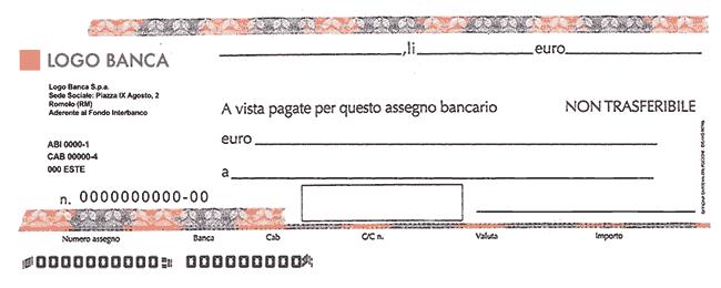 Assegni di importo superiore a 1.000,00 euro privi della clausola di non trasferibilità. Regime
