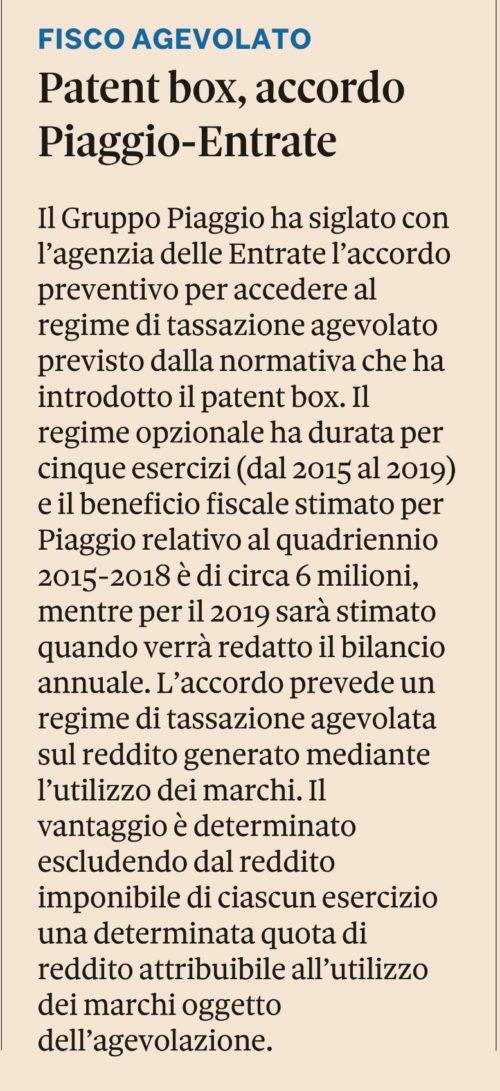 Patent Box per Valorizzare la pianificazione fiscale della Tua Azienda. Studio Gazzani