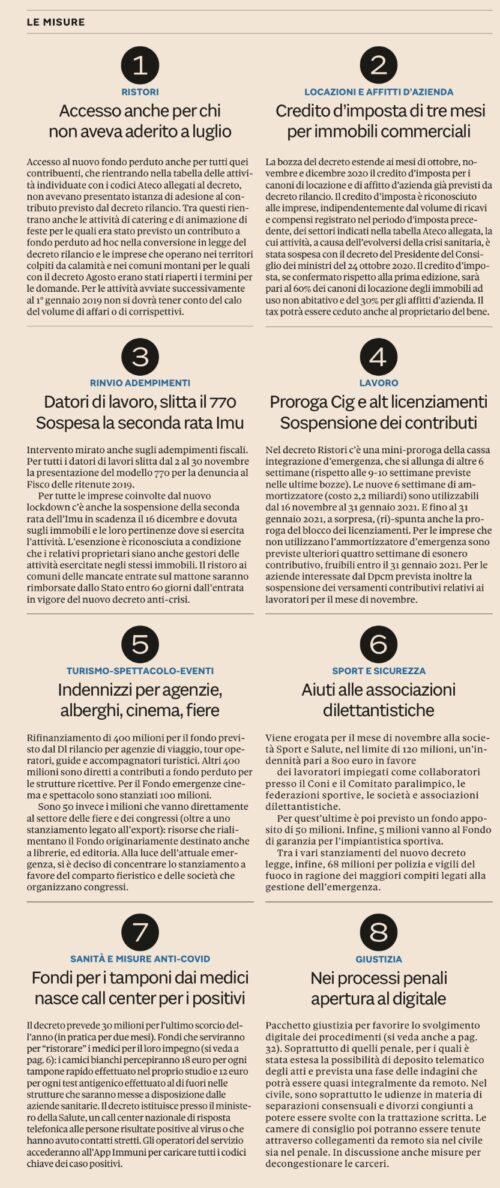 Nuove indennità e contributi a fondo perduto commentati dallo Studio Gazzani – Decreto Ristori