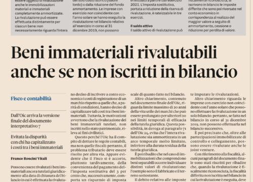 L'OIC e lo Studio Gazzani per la rivalutazione dei beni immateriali