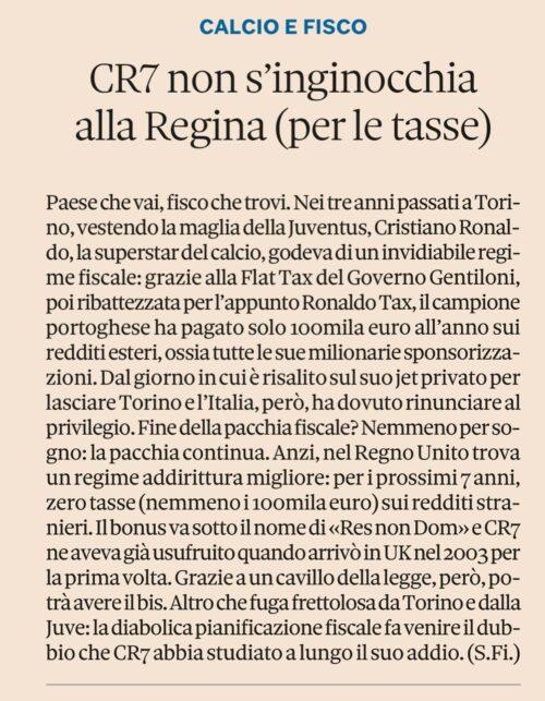 Fisco da Champion League. Studio Gazzani analizza CR7. #Fisco e #Pallone